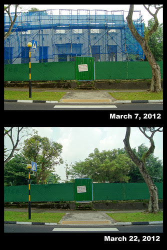 Demolition of Old Jalan Kayu Post Office