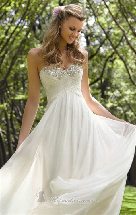 Simple white, long prom dress that doesn't look too much