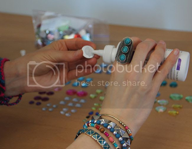 jeweled Teva sandals DIY project