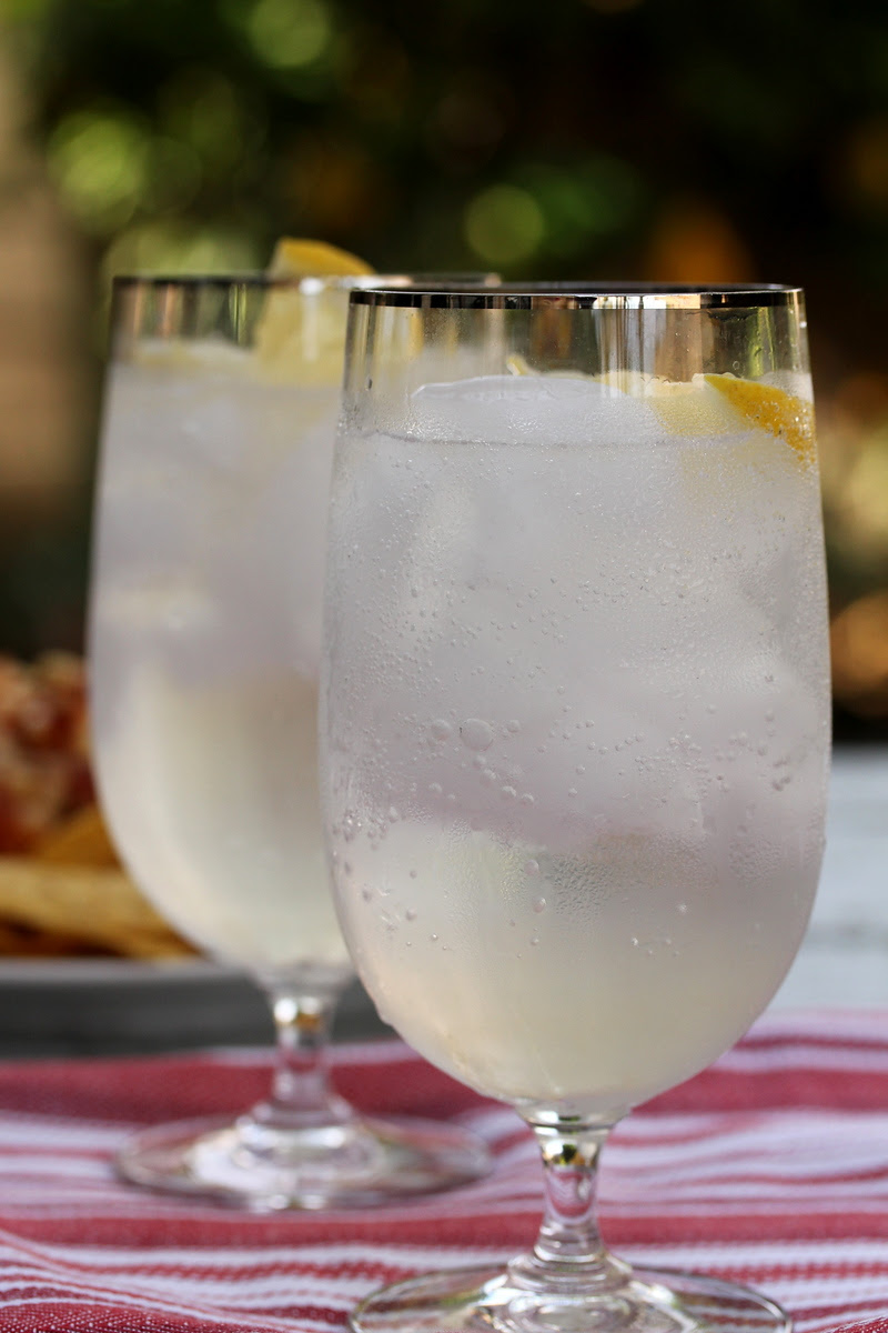 Meyer Lemon Tom Collins from Karen's Kitchen Stories