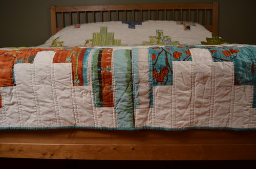 A quilt for my bed - binding and quilting detail