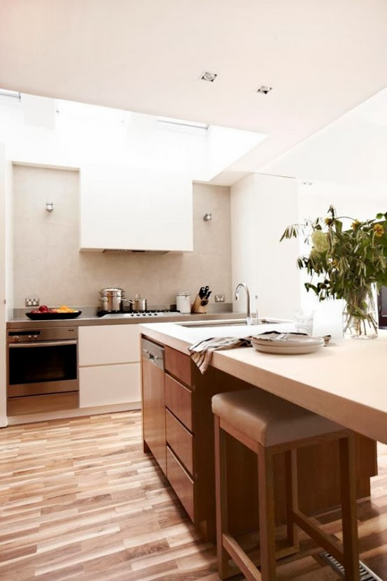Stunning Modern Kitchen With No Windows But Full Of Light ...