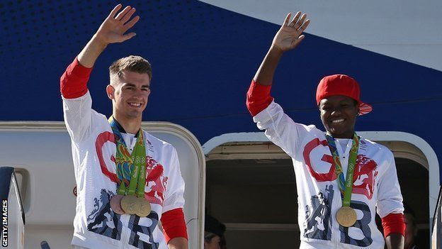 Max Whitlock (left) and Nicola Adams