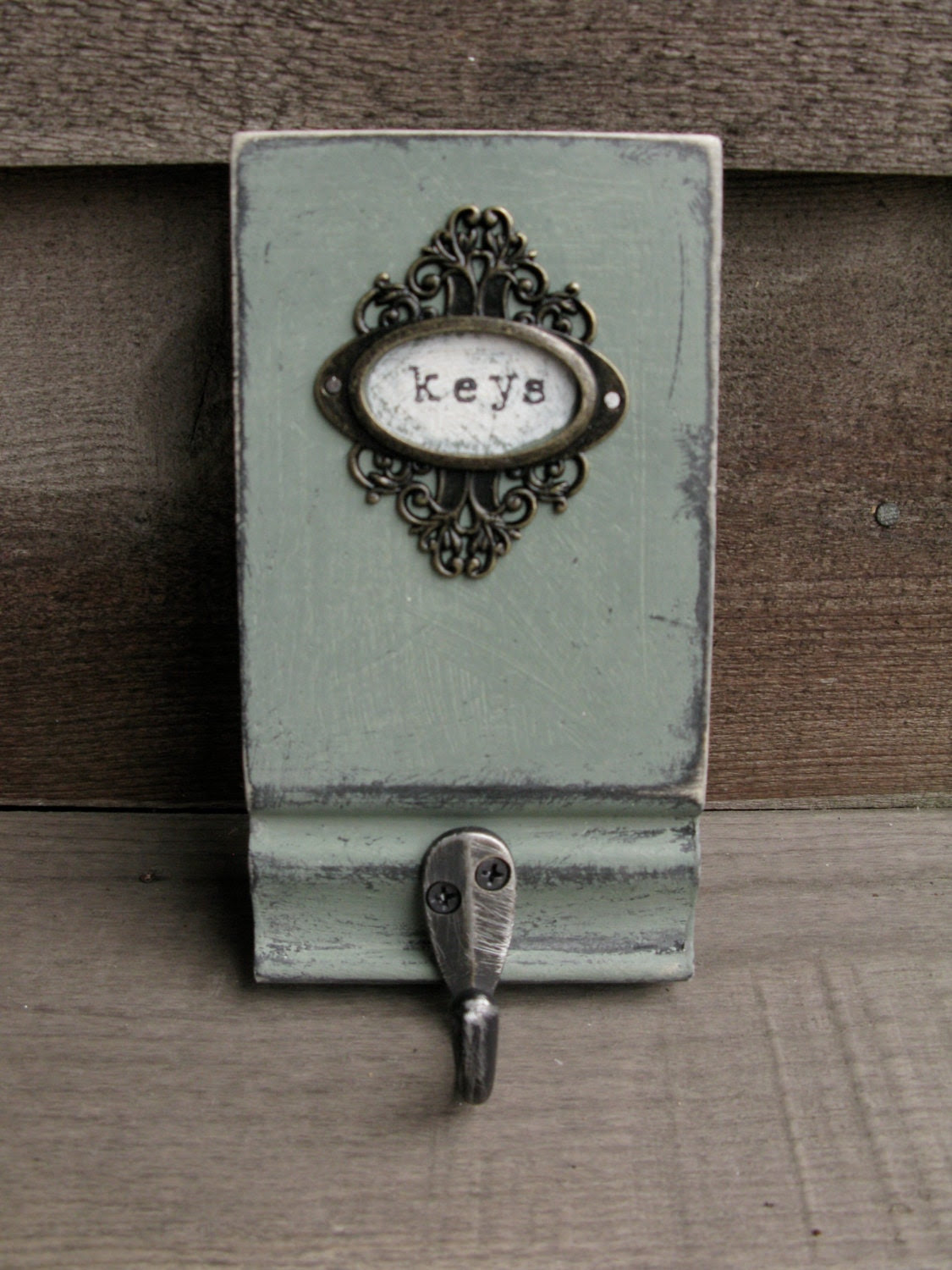 Mother's Day Gift Idea Vintage Look Key Holder by bonnielecat