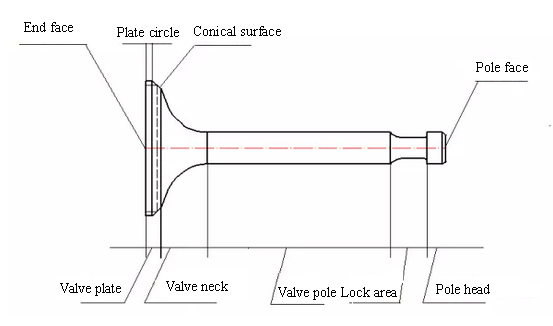 Auto Mobile Engine Part Valve Diagram