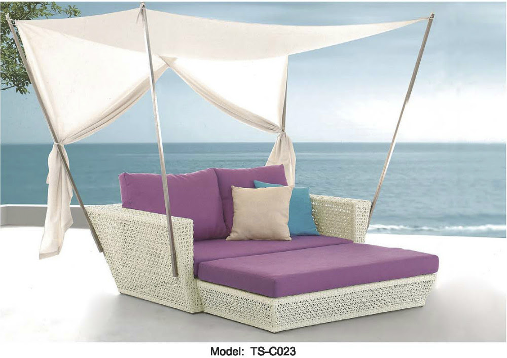 Outdoor Patio Sofa Lounge Canopy Day Bed Deck Poolside ...