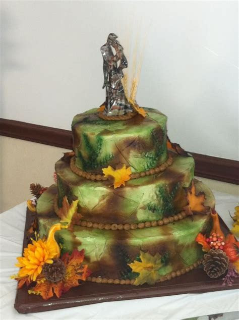 camouflage airbrushed wedding cake   cakes by chris and