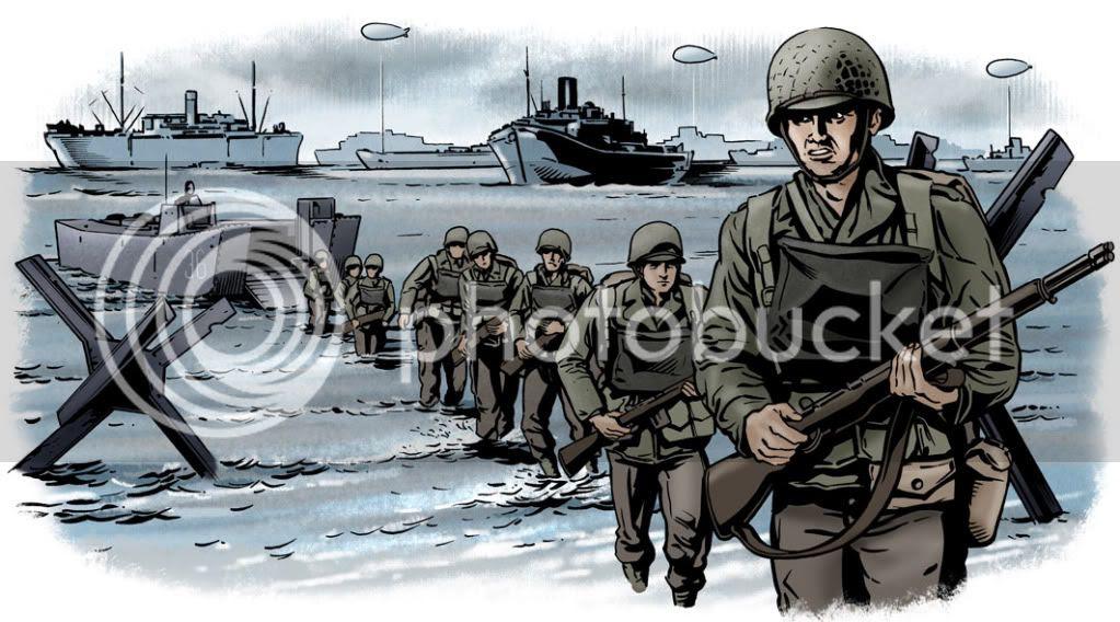Illustration,Graeme Neil Reid,D-Day