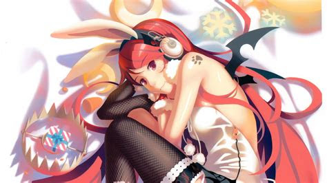 cute anime girl wearing headphones wallpaper  preview