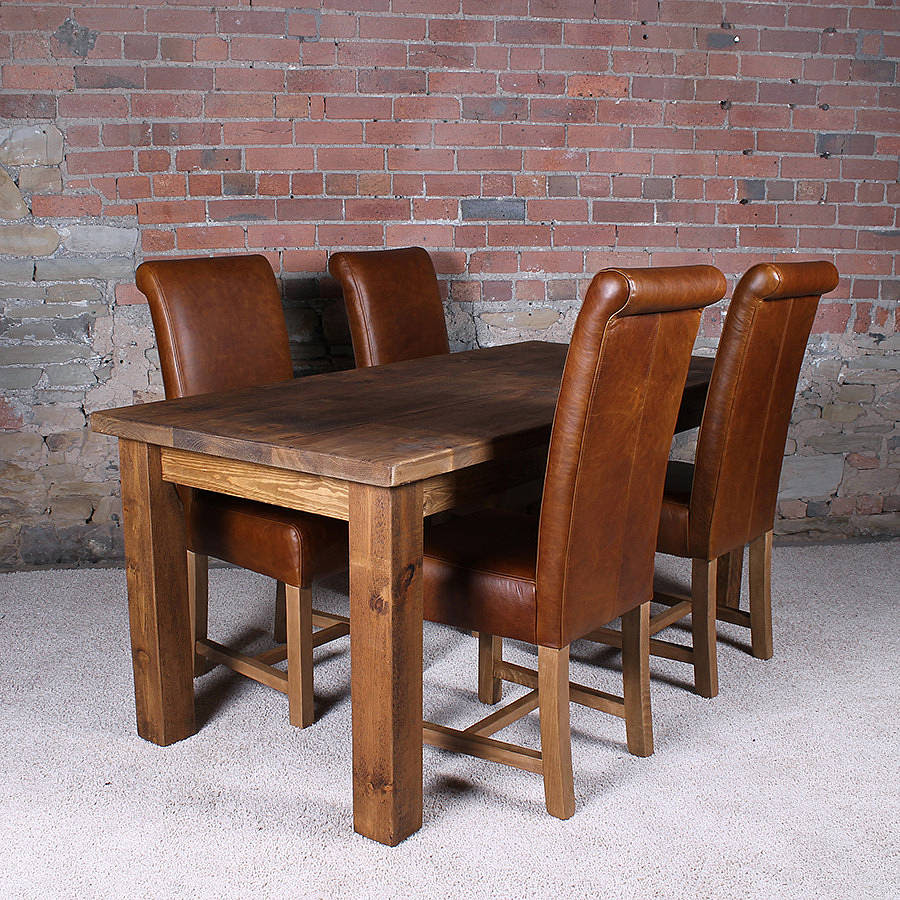 solid wood dining table by h\u0026f  notonthehighstreet.com