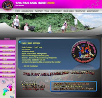 12th Pan Asia Hash 2009 website
