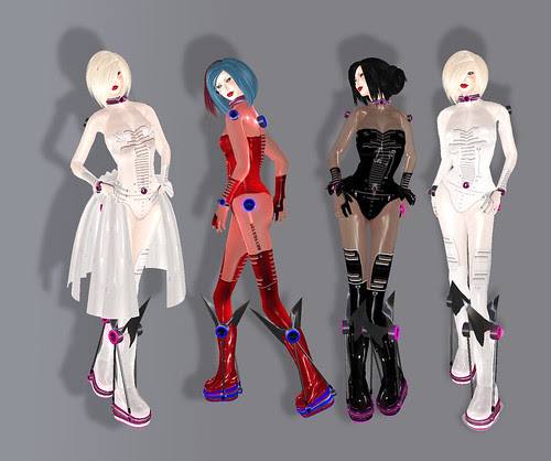 Ezura latex outfits