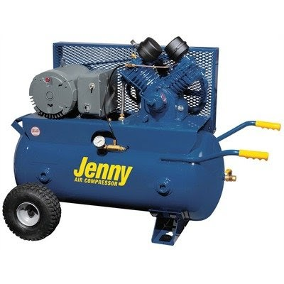 30 Gallon 5 Hp Electric Motor 230 Volt Two Stage Wheeled