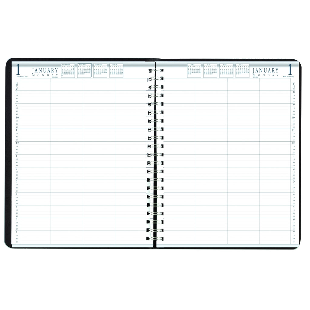 Daily Group Planner 8-Person Black 8-1/2 x 11 Inches | House of ...