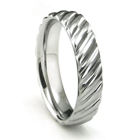 Tungsten Carbide Rope Design Wedding Band Ring