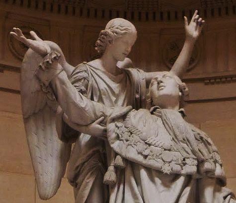 Bosio statue de Louis XVI à la chapelle expiatoire - détail