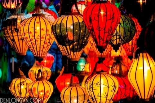 trang tri dep vơi den lòng hoi an 14 Đèn lồng Việt về mọi miền đất nước