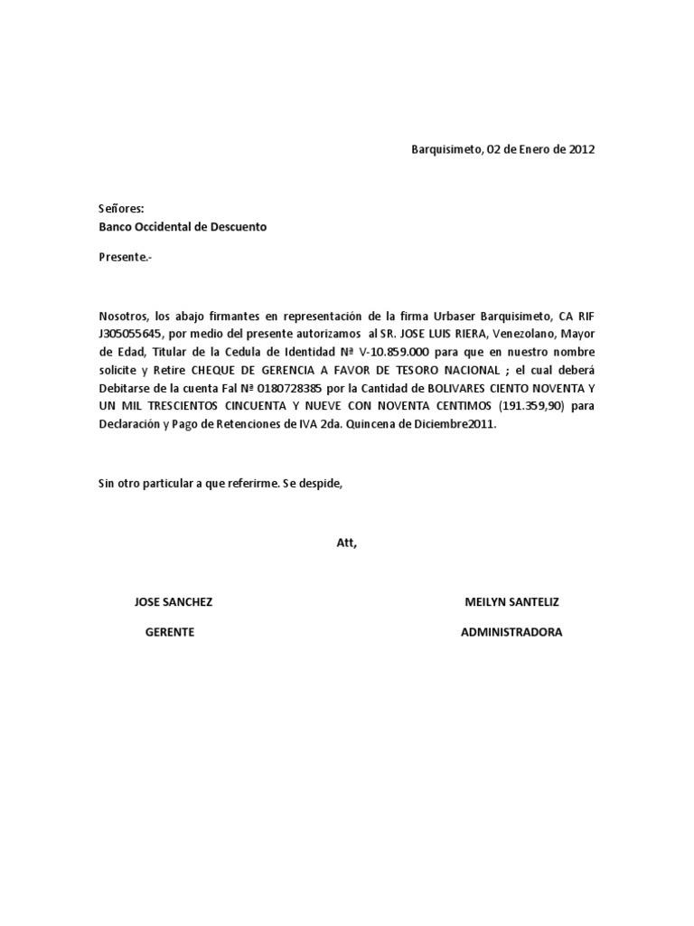 carta de autorizacion retiro de pasaporte