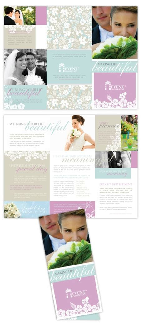 Wedding & Event Planning Tri Fold Brochure   Creative