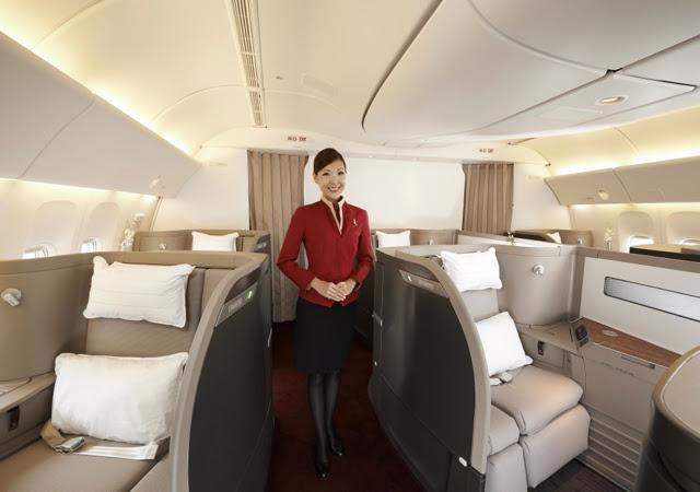 Resultado de imagen de cathay pacific first class