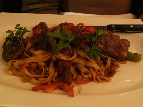 Coriander Beef Short Ribs with Fetticcina Pasta