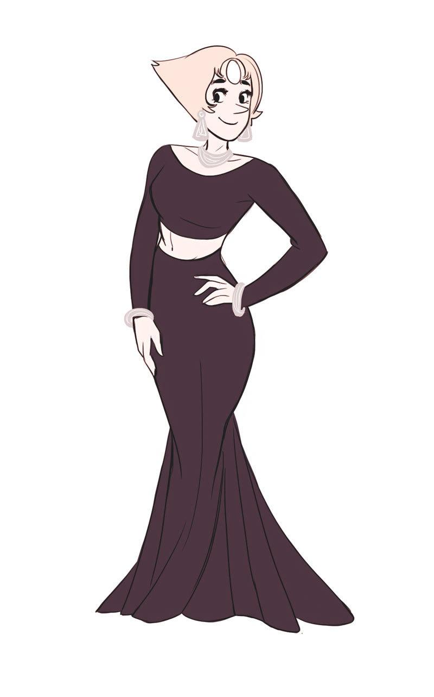 Black dress doodles.