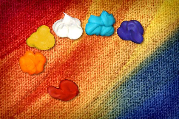 Paint Palette 5: Variations on an artist's paint palette.