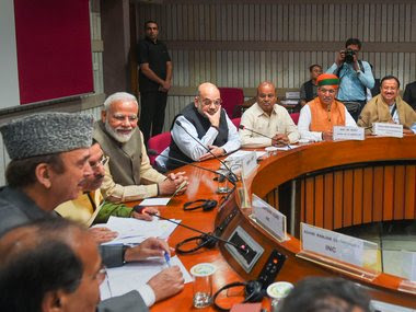 Prime Minister Narendra Modi along with leaders of various political parties attend an all-party meet ahead of the Winter Session of Parliament. PTI