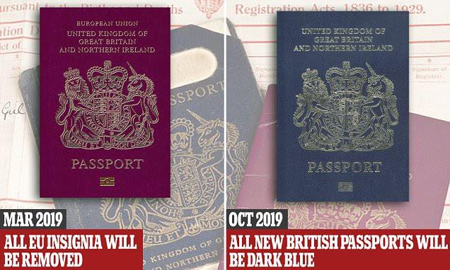 Post-Brexit Britain will get its dark blue passport back