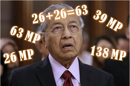 Mahathir Confused - 138 MPs SD In Support Of Mahathir - Math Fail