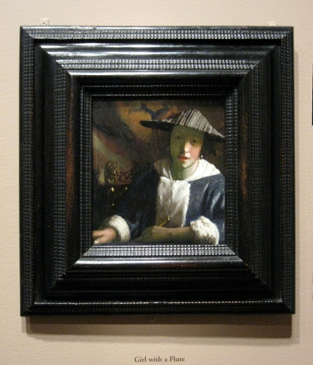 Vermeers Paintings In Their Frames Girl With A Flute