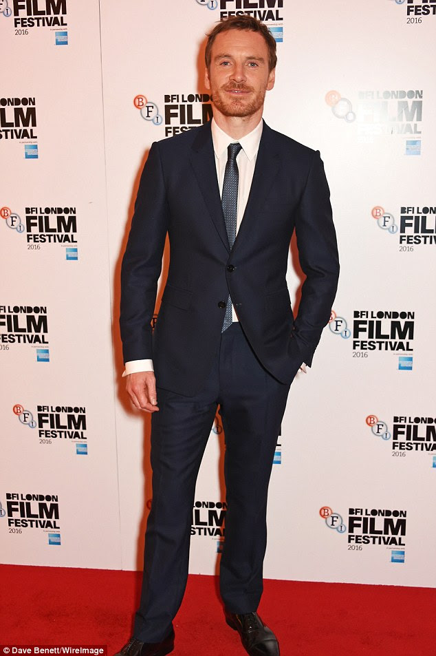 Dapper: Also at the BFI Film Festival was Michael Fassbender, who walked the red carpet at the Trespass Against Us screening