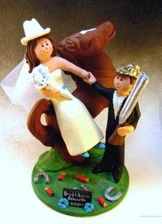 Horseback Wedding Cake Toppers