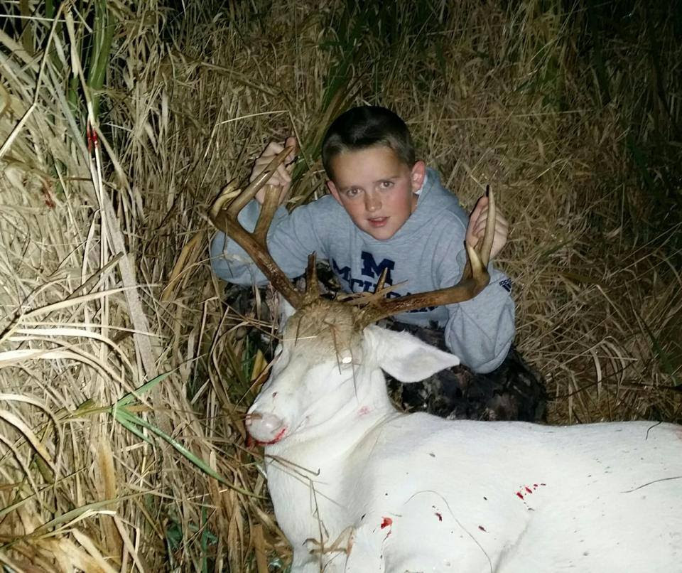 Death Threats Aimed at Boy, 11, Who Bagged Rare Albino Deer