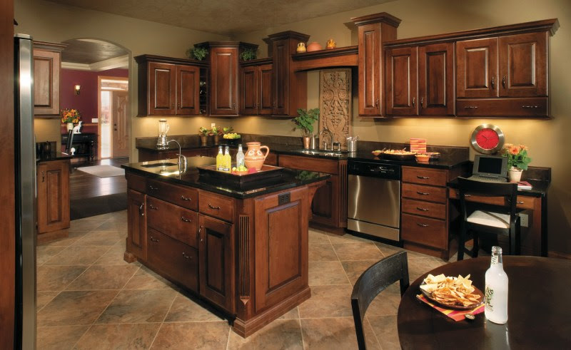 Best Paint Color for Kitchen with Dark Cabinets - Decor ...