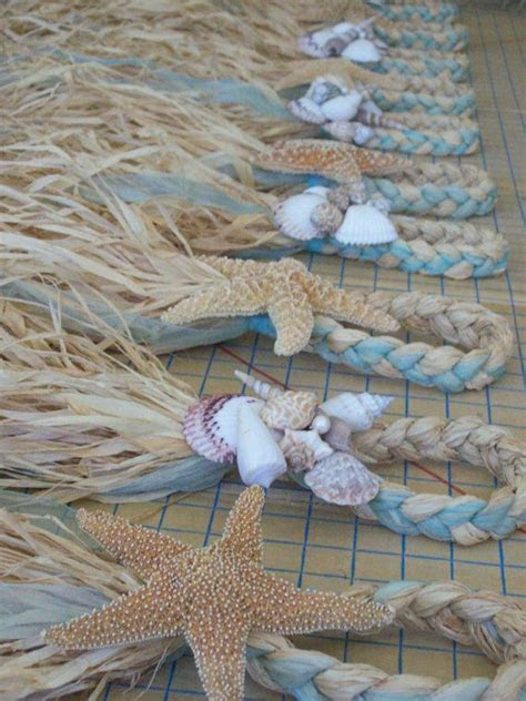 Starfish and Raffia Chair Hangers, Beach Wedding Decor