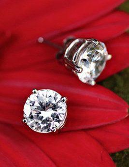 Round Diamond Stud Earrings