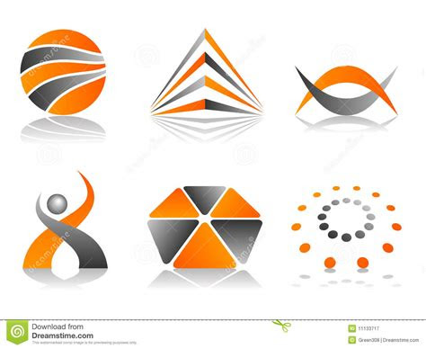 vector abstract logo icon design set royalty  stock