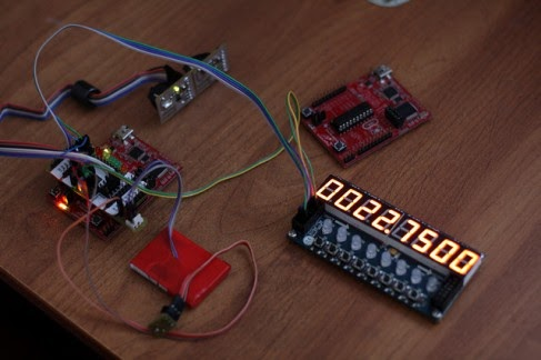 Real Time Clock using DS1394, launchpad and display driver on tm1638