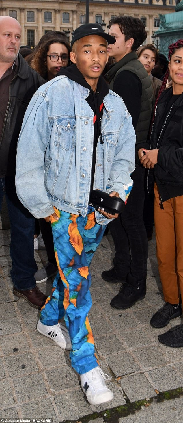 jaden smith channels fresh prince in paris  daily mail online