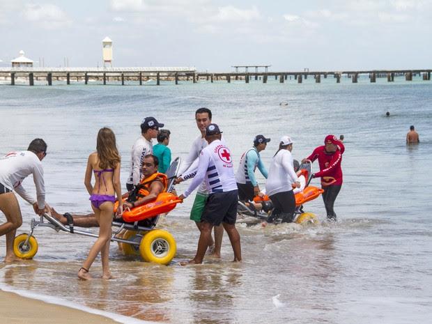 Praia acessível (Foto: Marcos Studart/Governo do Ceará)