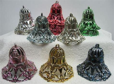 12 bradford plastic bell vintage Christmas tree ornaments