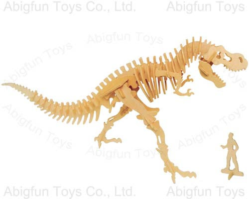 puzzle for kids, dinosaur model kit, woodcraft assembly toy