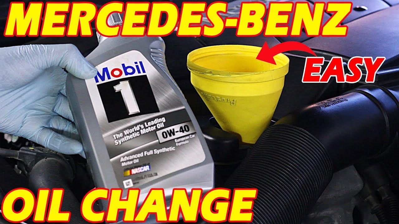 1997 Mercedes e320 oil change