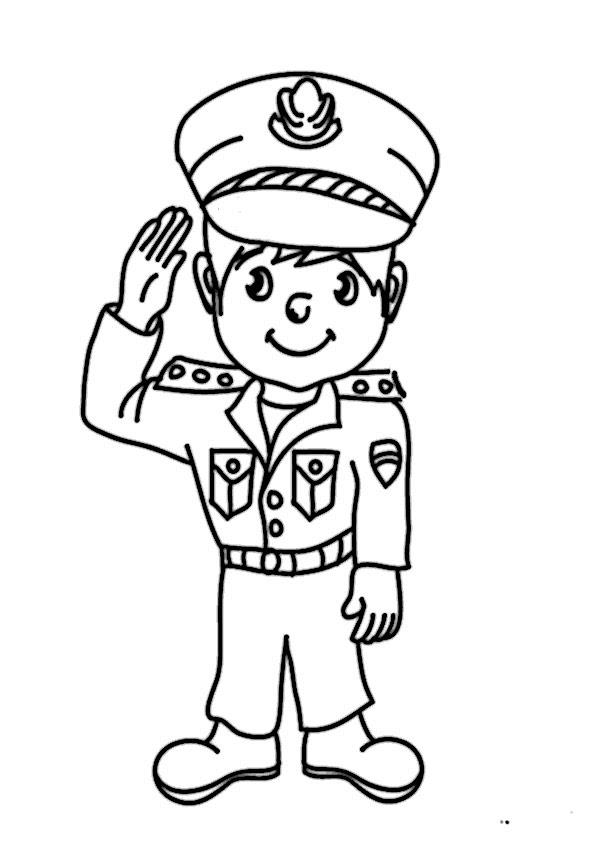 malvorlagen gratis polizei  zeichnen und färben