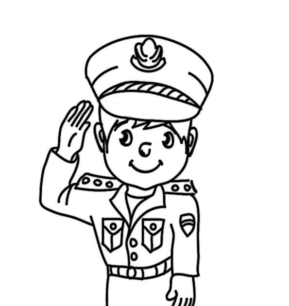 malvorlagen gratis polizei