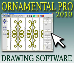 Ornamental Pro Wrought Iron Railing And Gate Drawing Software