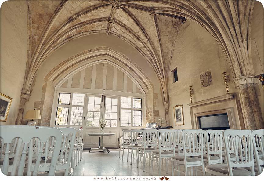 Interior of Butley Priory wedding venue, Suffolk - www.helloromance.co.uk
