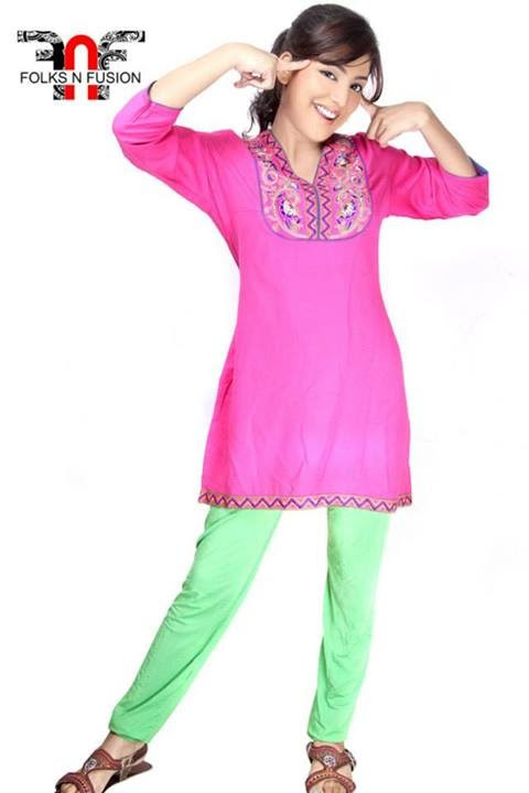 Folks N Fusion Tops-Kurti and Tights Fashion for Girls-Womens10