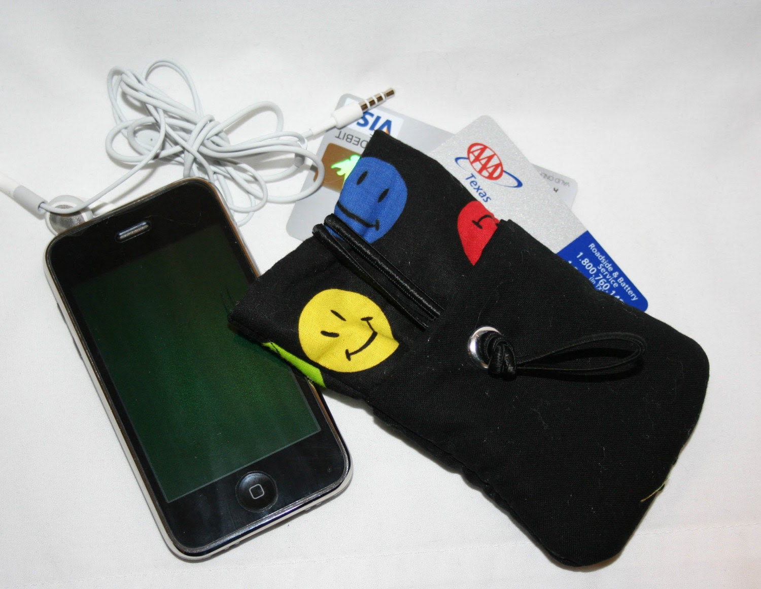iphone ipod case/sleeve happy face